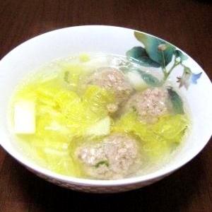 ほかほか♪白菜と肉団子のスープ