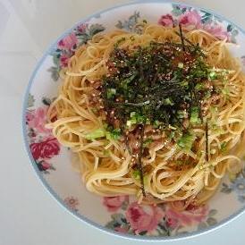 納豆バター醤油パスタ