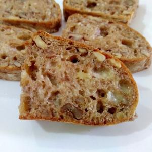 おつまみにも☆くるみパンのガーリックトースト