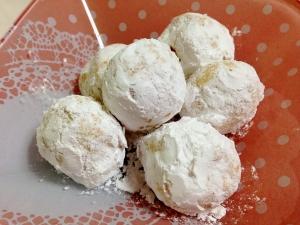 オリーブオイルで☆さくさくスノーボールクッキー