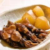 ホタルイカと大根の煮物。