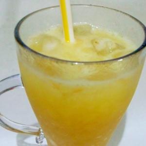 シュワシュワ!オレンジゼリー炭酸ドリンク