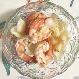 アルゼンチン海老、ユリの根の酢味噌和え