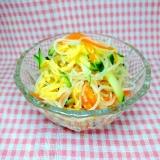 きゅうり にんじん 春雨と炒り卵のサラダ