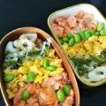 幼児食 枝豆と海苔と鮭フレークの丼