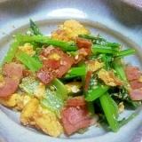 簡単!小松菜とベーコンの炒め物