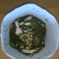 メカブときゅうりハムの酢の物