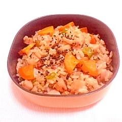 梅味噌風味♪簡単炒飯のお弁当