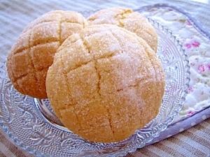 ホットケーキミックスで、ミニメロンパン♪