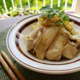 【独居自炊】鶏胸肉ともやしのグリーンカレー炒め