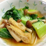 チンゲン菜としめじの「めんつゆ」煮物