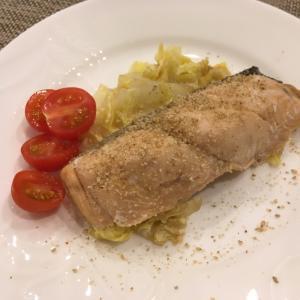 一歳半の子供と作る!鮭と白菜の和風スタイル