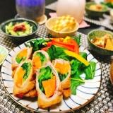 野菜でカサ増し♪小松菜と人参の豚肉巻き