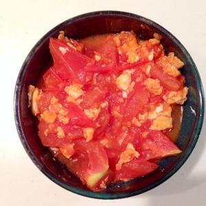 トマトと卵のケチャップ炒め