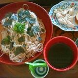 奥久慈蕎麦とチキン伊達巻ランチ