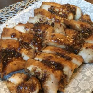 塩麹漬けの鶏胸肉で醤油タレステーキ