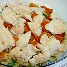 野菜たっぷり ❤鶏と野菜の蒸しもの❤