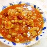 無水鍋で☆鶏もも肉とサラダ豆のトマト煮☆