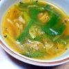 キムチとにらのスープ