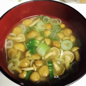なめこ&ヨーグルト味噌汁