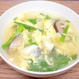 鱈(タラ)のかきたまスープ