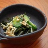 さっぱり副菜!えのきとワカメ、きゅうりのごま酢和え