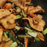 甘辛豚肉小松菜炒め