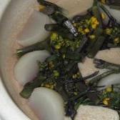 紅菜苔と生麩の煮浸し