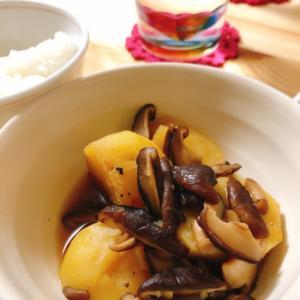 しいたけとじゃが芋の簡単麺つゆ煮