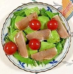 水菜と生ハムのサラダ~♪