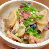 鯖の味噌煮缶と大根の煮物