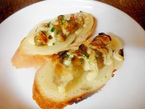 牡蠣とジャガイモのタルティーヌ