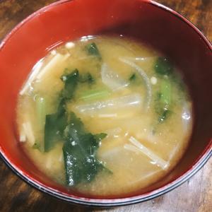 大根の葉のお味噌汁