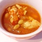 大豆と鶏肉のトマト煮
