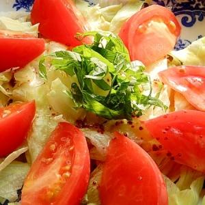 カシスマスタードで❤レタス&トマトのデリ風サラダ♪