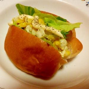 簡単♪朝ごパン♪コーンマヨネーズサンドイッチ