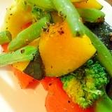 ☆付け合わせに♪温野菜のオリーブオイル炒め☆