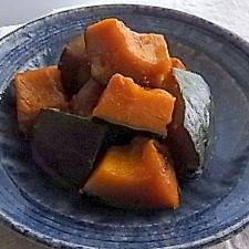 ダシなし。簡単。圧力なべでかぼちゃの煮物。