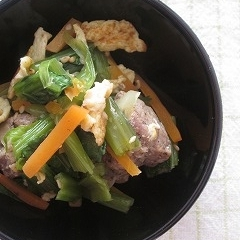 **牛肉と小松菜のごま和え**