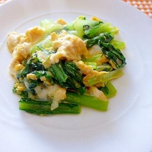 小松菜の卵とじ