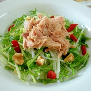 ビタミンCたっぷり☆大根と水菜のツナサラダ☆