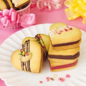ハートの生チョコサンドクッキー