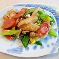 和洋折衷で美味しい!麩入りの野菜炒め