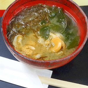 至福の香り♪ 厳冬期の「函館海鮮みそ汁」