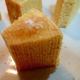 ザラメ糖のせて 甘じょっぱ焼きバームクーヘン