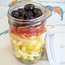 胡瓜とセロリのジャーサラダ