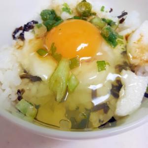 簡単ヘルシー!(^^)とろろと塩昆布の卵かけご飯♪