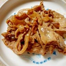 お弁当レシピ 豚肉のマヨしょうゆ炒め