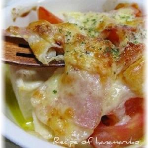 塩麹豆腐とトマトのチーズ焼き