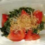 モロヘイヤとトマトのサラダ
